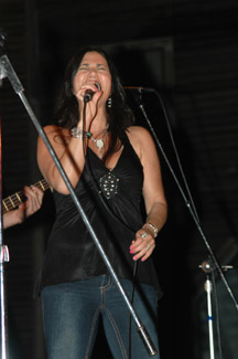 Paula singing the blues!