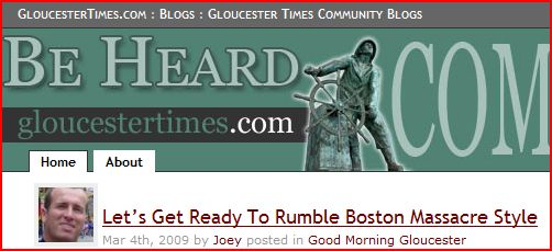 Gloucester Daily Times Community Blog