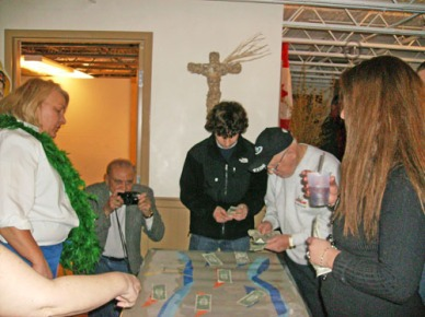 "This is Joey Ciolino and Bill Edmonds trying their luck at the ""DOLLAH HAULAH"" Table ( Joey won $15 bucks) We lost count on how many Bill won!"