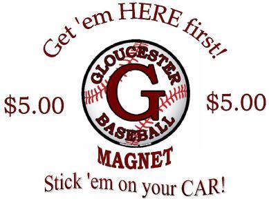 Gloucester Baseball Magnet