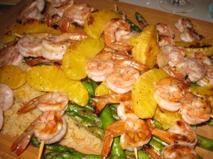 Orange Shrimp & Asparagus