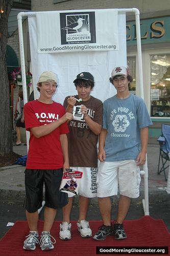 Three boys winners