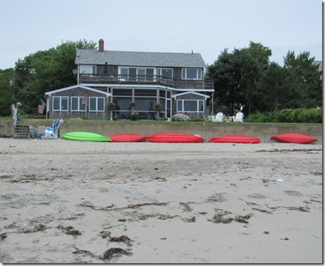 Kayaks ready to go out to Magnolia Harbor