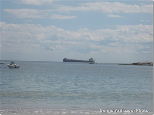 Coal Tanker going by Magnolia Beach