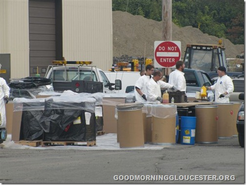 Hazardous waste day with Clean Harbor