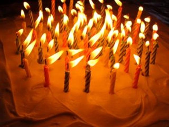 фото торт свеча