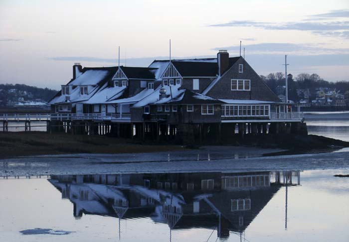Annisquam Yacht Club winter reflections