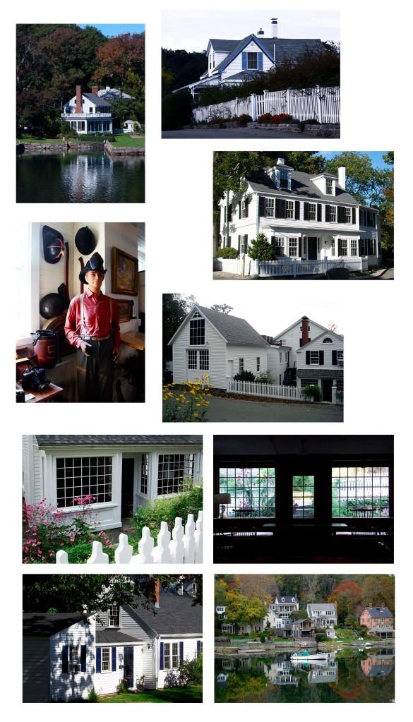 Photo collage of parts of Annisquam Village