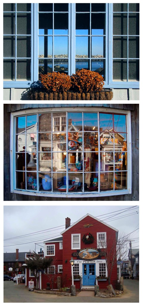 photo collage of bearskin neck