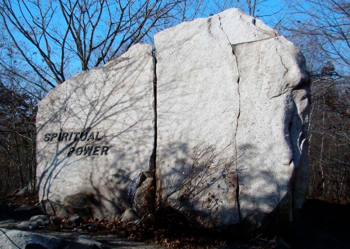 Photo of Babson Boulder, Spiritual Power