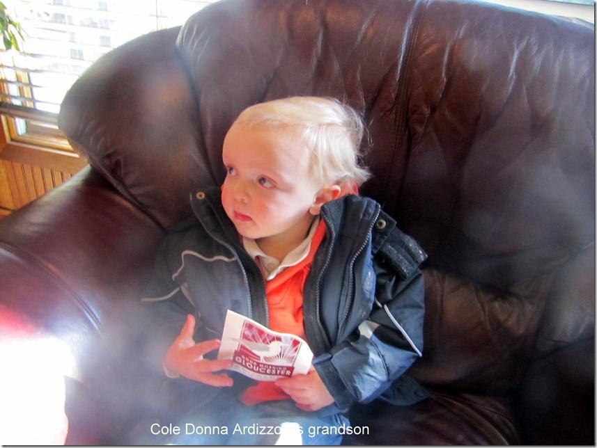 Ciole, Donna Ardizzoni's grandson at the Lone Gull