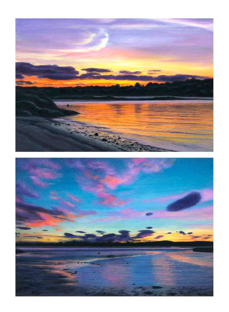 photos of the gloaming over Wingaersheek Beach from River Road and Cambridge Beach in Annisquam