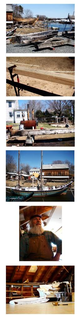 preparing rum plank to be installed in shuttering of schooner Ardelle at Burnham Boat Yard in Essex