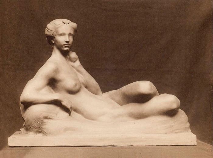 clay sculpture of Artemis by sculptor Bela Lyon Pratt