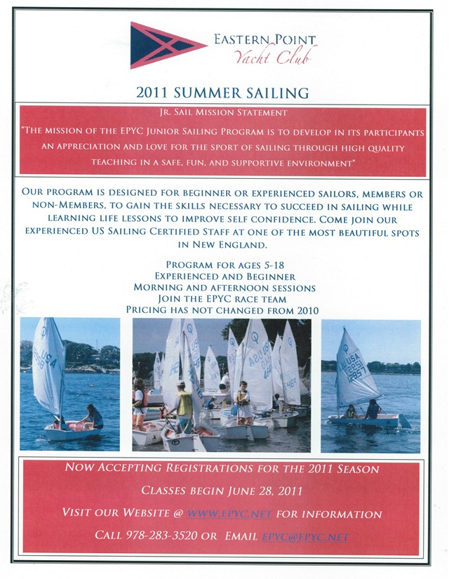 EPYC Junior Sail Ad