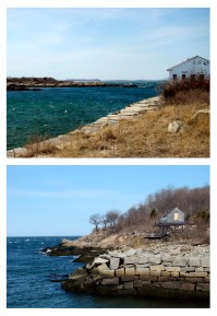 UMass Research Station and old fishing shack at Hodgkins Cove, Bay View, Gloucester