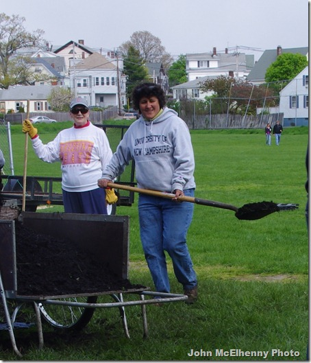 Community garden - Barb Collins and Marie Rodriguez