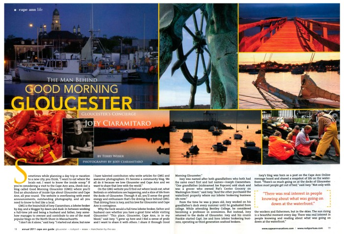 Joey C., the Man Behind Good Morning Gloucester