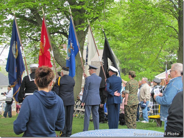 Veteran's Memorial in Magnolia Color Guard