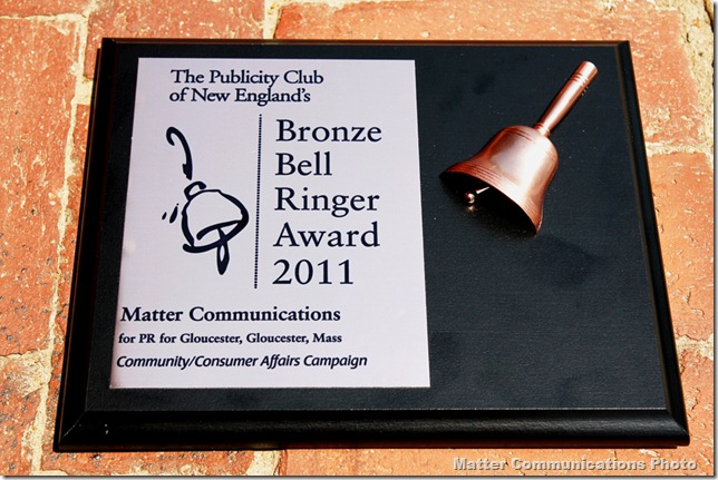 BellRinger award plaque