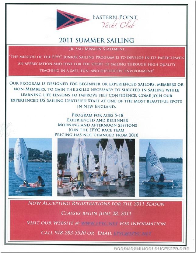 EPYC Junior Sail Ad