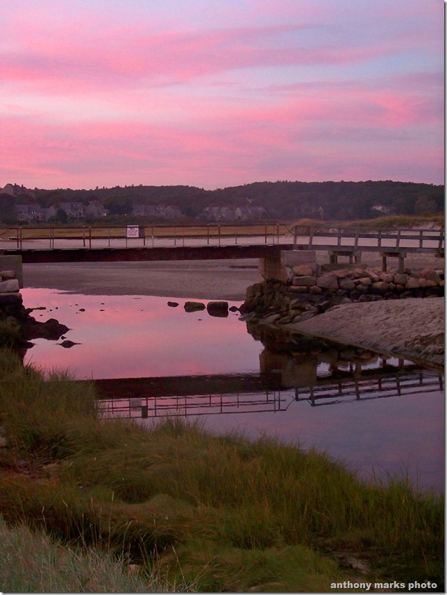 sunset foot bridge goodharbor beach