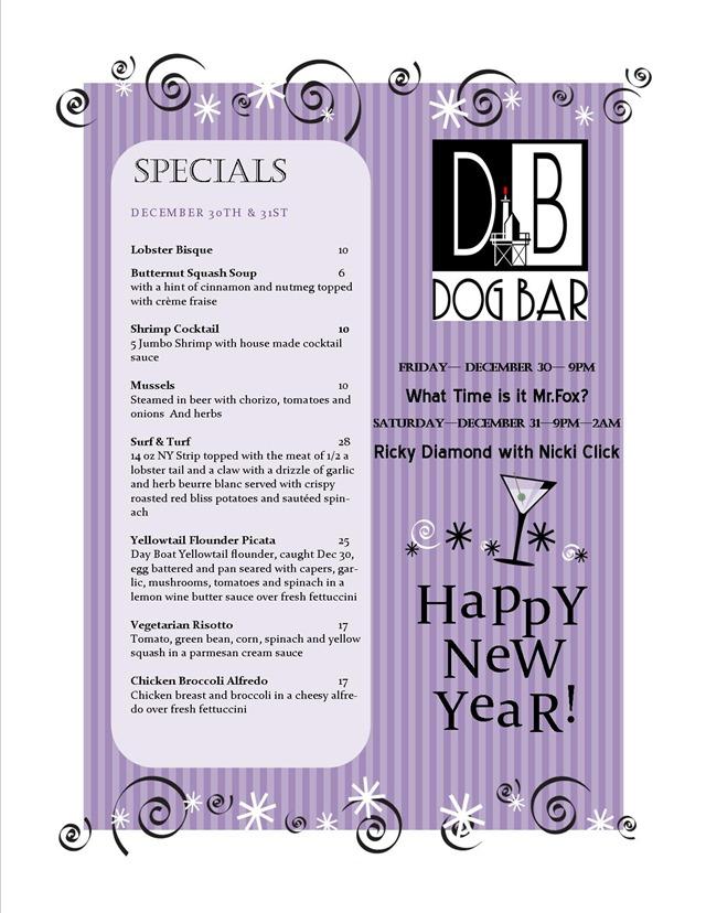 2011 nye menu