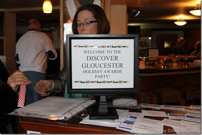 Discover Gloucester as Linda Stockman was checking everyone in at Giuseppe