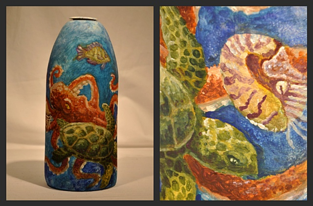 Octopus and Turtle buoy by Janelle Downey