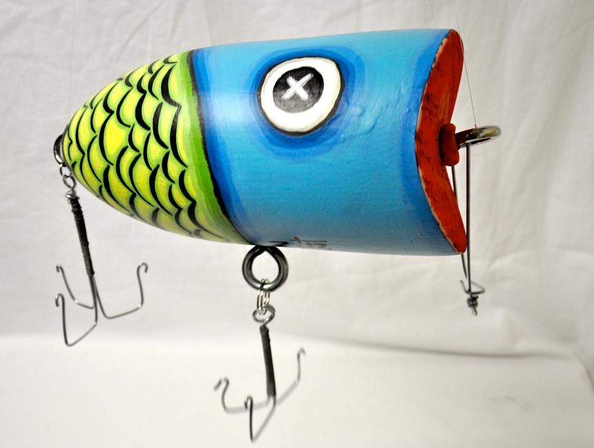 Fishing Lure buoy by Karen Conant
