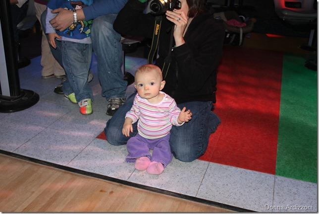 Avery watching bowling
