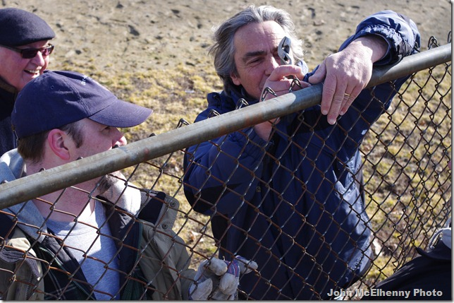 Ed fixes the fence