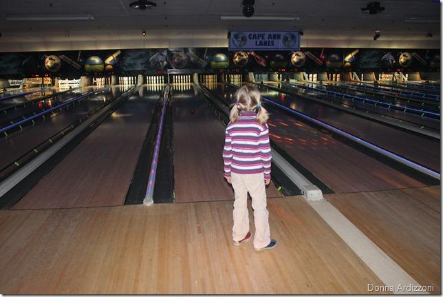 Maddie loving bowling