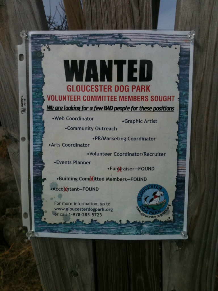 Wanted-Gloucester Dog Park