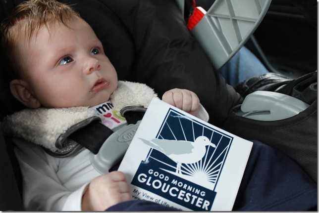 march 24, 2012Riley the newest reader of Good Morning Gloucester
