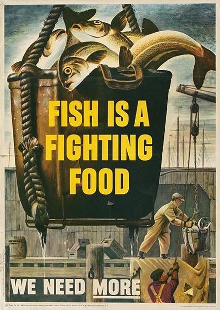 Fish is a fighting food poster from the us office of war for Battle fish 2