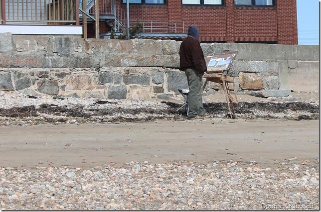 April 2, 2012 local artist on Pavillion Beach