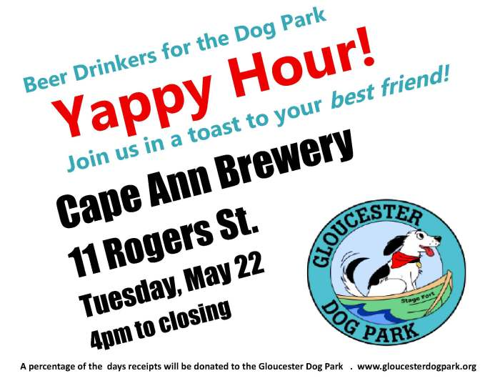 Cape Ann Brewery Gloucester Dog Park Yappy Hour