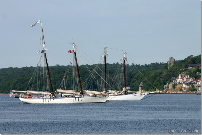 May 31, 2012 two schooners in the harbor