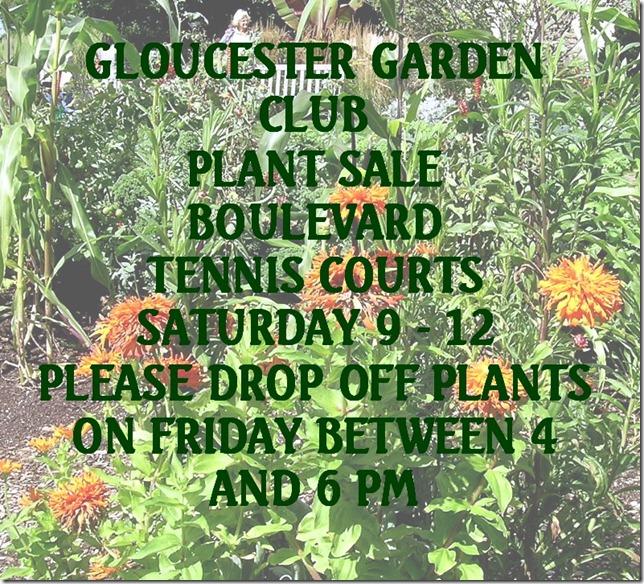 Plant sale notice