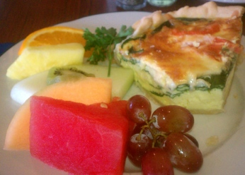 Quiche at Atlantis Oceanfront Cafe