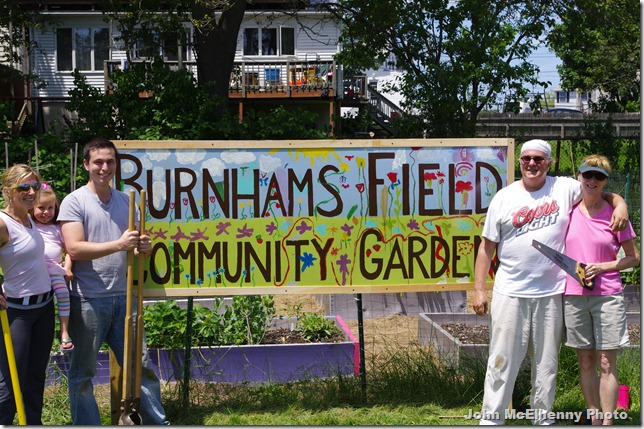 Burnhams Field garden sign team