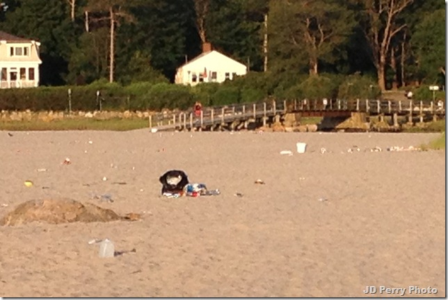Good Harbor Beach, a little after 6:00 a.m., June 21, 2012 -- disrespect for this natural beauty, people just don't care