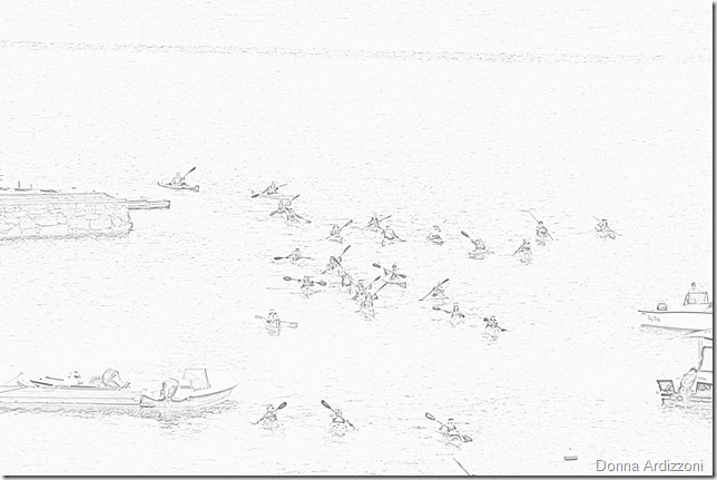July 14, 2012 more coming under the bridge in pencil sketch