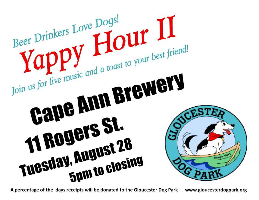 yappy hour, cape ann brewery