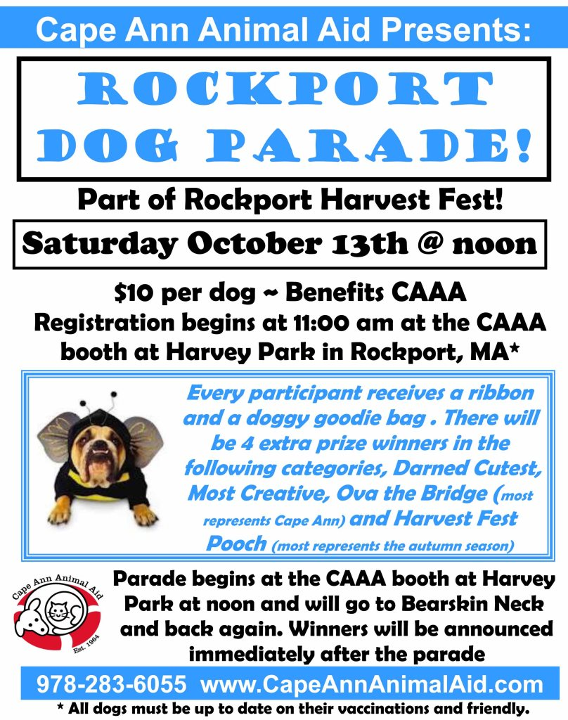 dog parade, rockport harvest fest