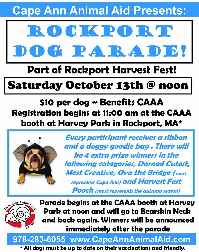 dog parade, rockport harvest fest