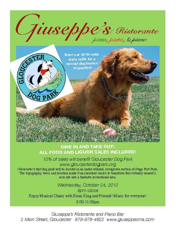 Gloucester Dog Park Fundraiser, Giuseppe's