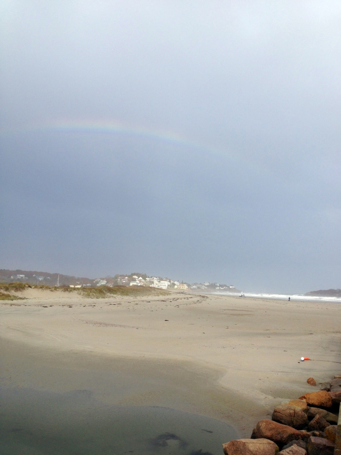 good harbor beach rainbow after sandy