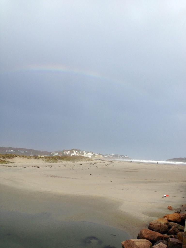 good harbor beach rainbow after sandy